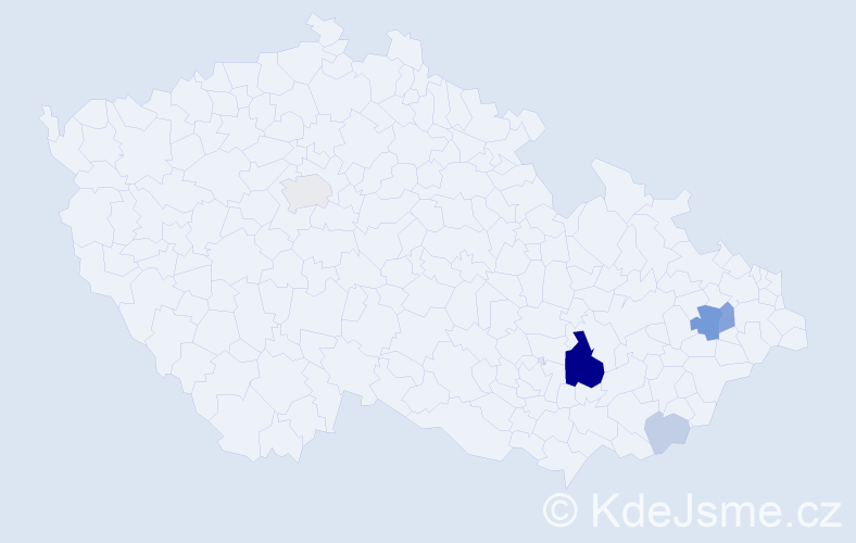 Příjmení: 'Čepán', počet výskytů 18 v celé ČR