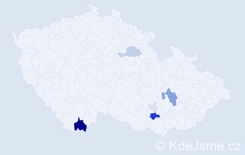 Příjmení: 'Alfieri', počet výskytů 8 v celé ČR