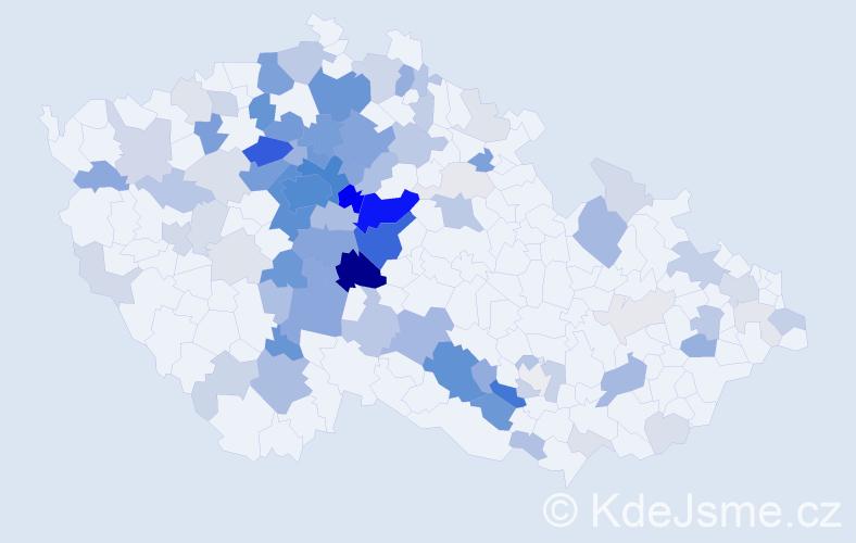 Příjmení: 'Hrabánková', počet výskytů 396 v celé ČR