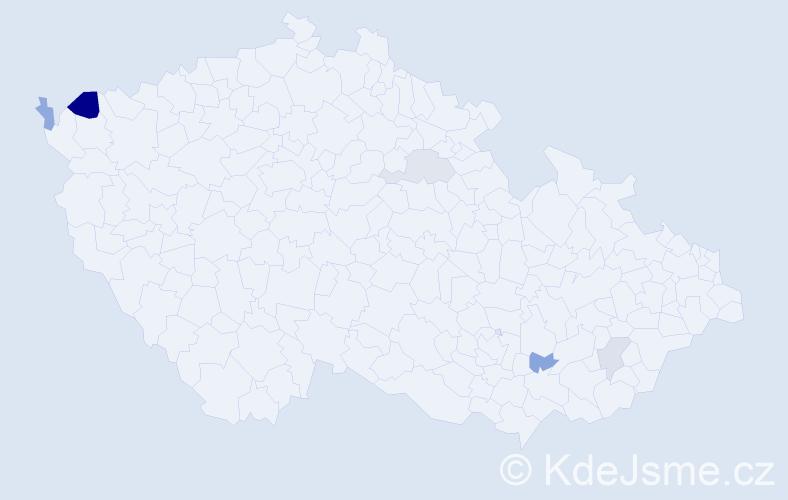 Příjmení: 'Kafara', počet výskytů 8 v celé ČR