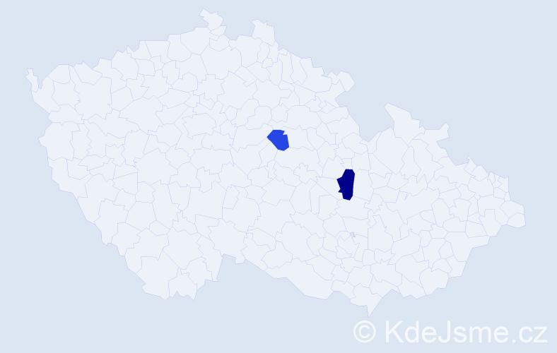 Příjmení: 'Ivančuk', počet výskytů 3 v celé ČR