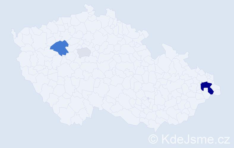 Příjmení: 'Adamišinová', počet výskytů 5 v celé ČR
