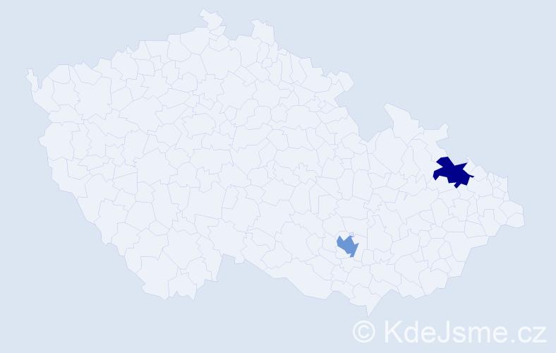Příjmení: 'Campagna', počet výskytů 2 v celé ČR