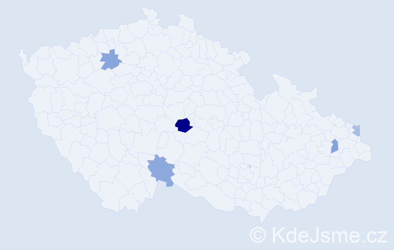 Příjmení: 'Irschik', počet výskytů 6 v celé ČR