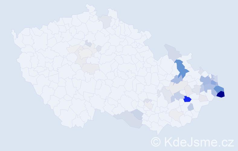 Příjmení: 'Gomola', počet výskytů 226 v celé ČR