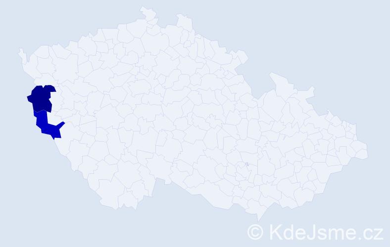 Příjmení: 'Iščenková', počet výskytů 4 v celé ČR