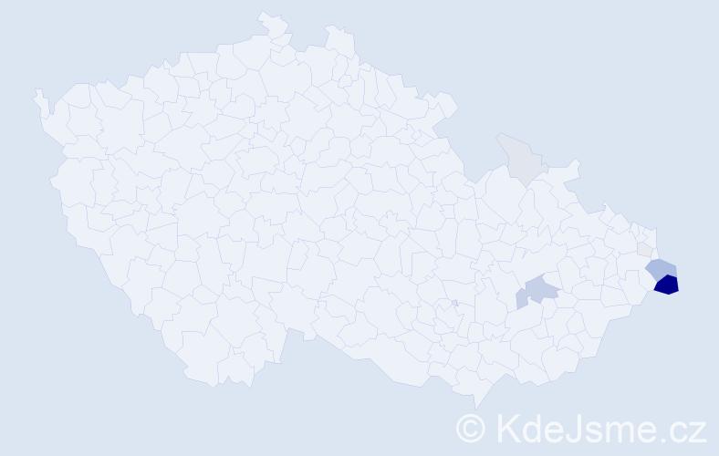 Příjmení: 'Chrascina', počet výskytů 30 v celé ČR