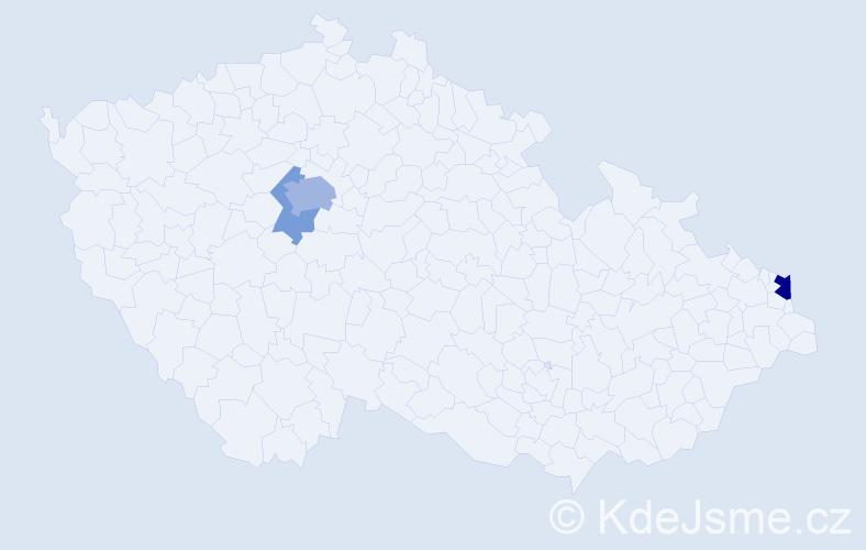 Příjmení: 'Cipryanová', počet výskytů 15 v celé ČR