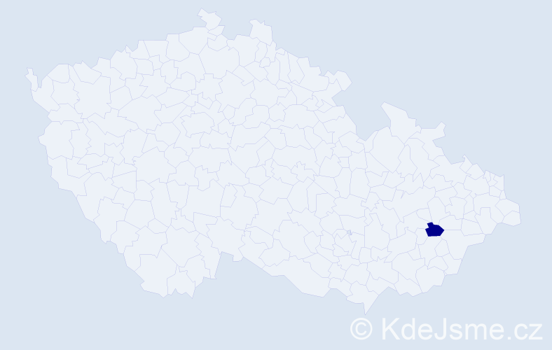 Příjmení: 'Lazarski', počet výskytů 1 v celé ČR