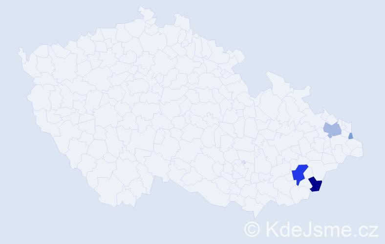 Příjmení: 'Karpiel', počet výskytů 15 v celé ČR