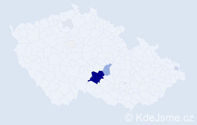 Příjmení: 'Kodysová', počet výskytů 51 v celé ČR