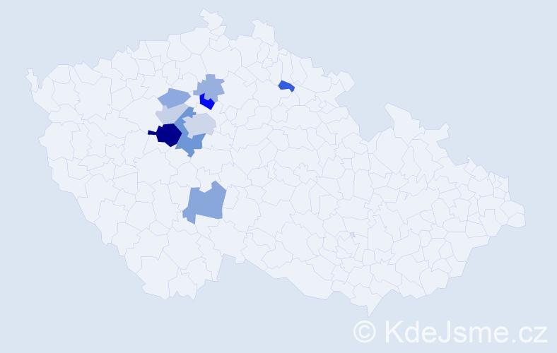 Příjmení: 'Jankásková', počet výskytů 26 v celé ČR