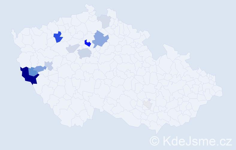 Příjmení: 'Hötzel', počet výskytů 33 v celé ČR