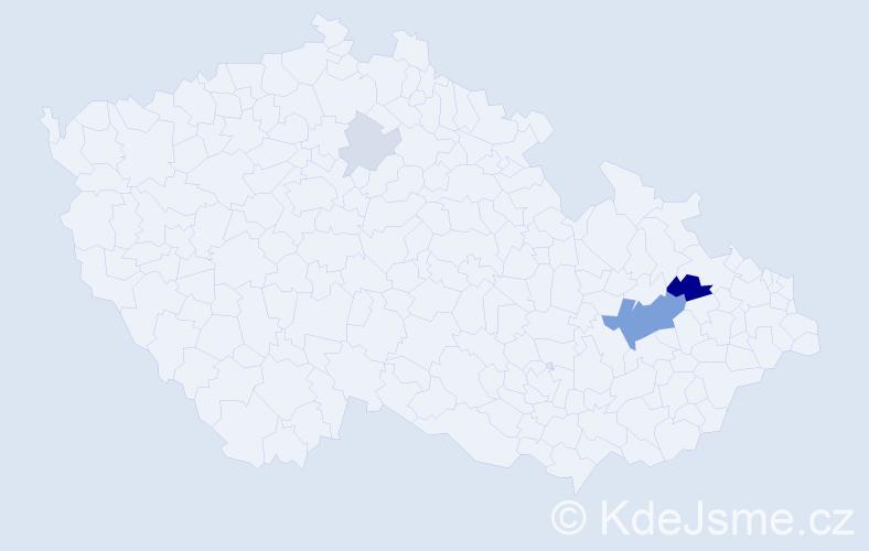 Příjmení: 'Glauderová', počet výskytů 11 v celé ČR