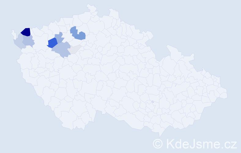 Příjmení: 'Jožko', počet výskytů 29 v celé ČR