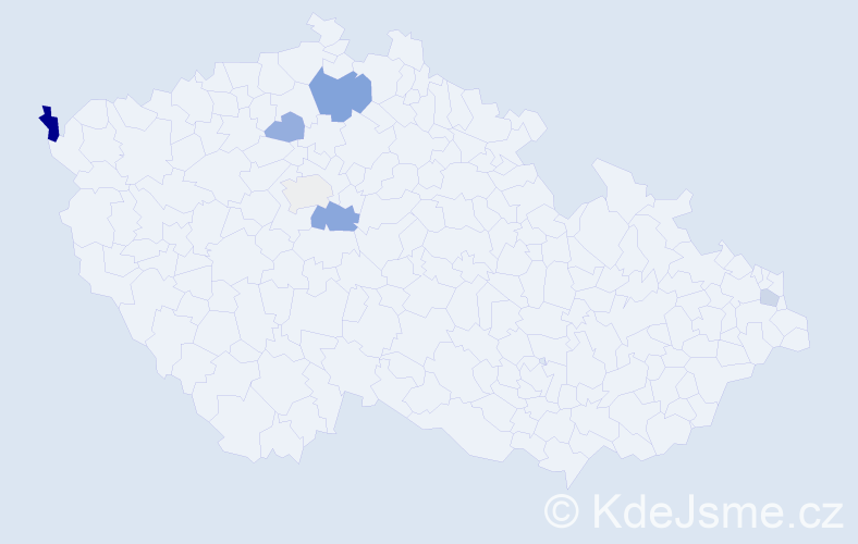 Příjmení: 'Benz', počet výskytů 11 v celé ČR