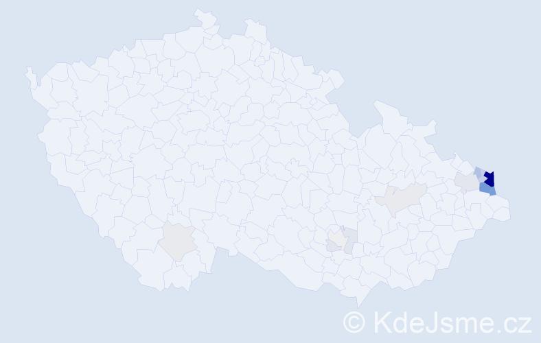 Příjmení: 'Kondziolka', počet výskytů 63 v celé ČR
