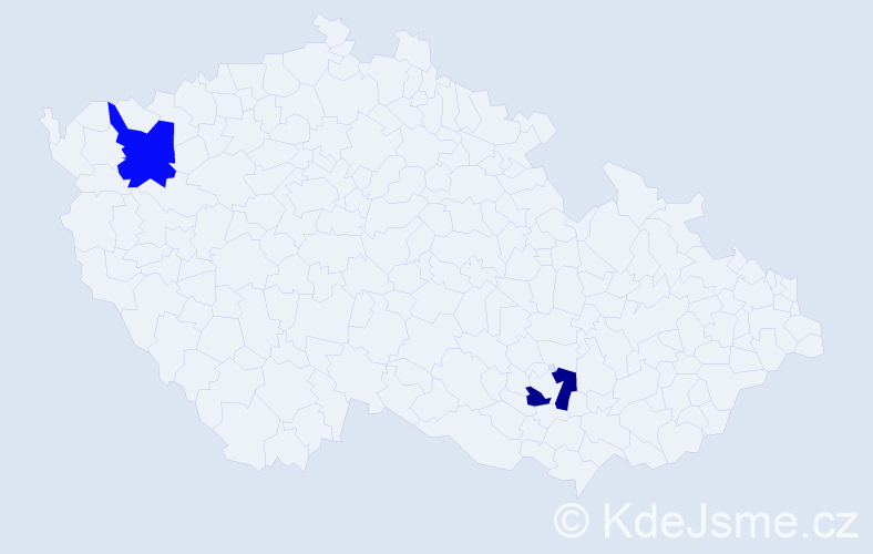 Příjmení: 'Habrzettlová', počet výskytů 2 v celé ČR