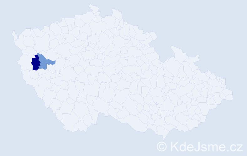 Příjmení: 'Elemansová', počet výskytů 2 v celé ČR