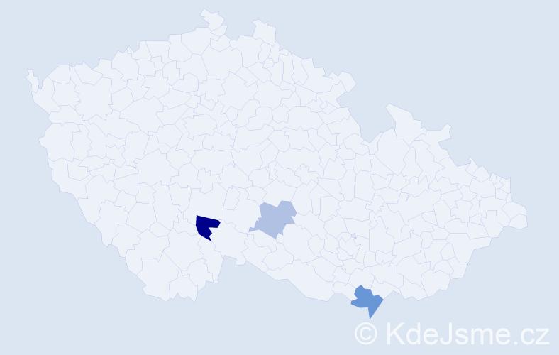 Příjmení: 'Demčilová', počet výskytů 5 v celé ČR