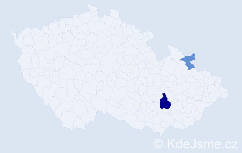 Příjmení: 'Deuserová', počet výskytů 4 v celé ČR