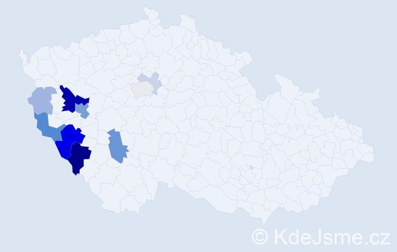 Příjmení: 'Kolerus', počet výskytů 35 v celé ČR