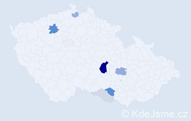 Příjmení: 'Gretz', počet výskytů 21 v celé ČR