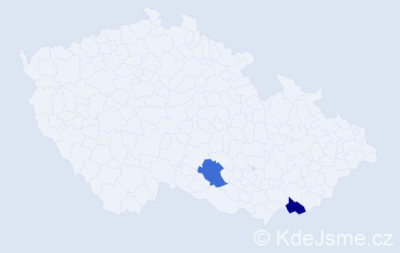Příjmení: 'Kohlstrom', počet výskytů 6 v celé ČR