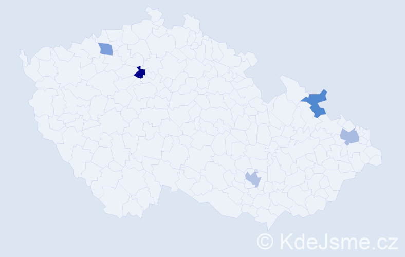 Příjmení: 'Košinar', počet výskytů 13 v celé ČR