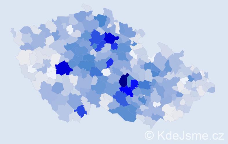 Příjmení: 'Havelková', počet výskytů 3746 v celé ČR