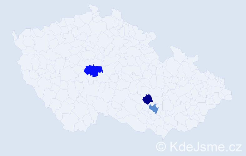 Příjmení: 'Bartošovský', počet výskytů 12 v celé ČR