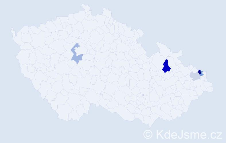 Příjmení: 'Haľková', počet výskytů 6 v celé ČR