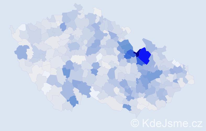Příjmení: 'Kubíček', počet výskytů 4061 v celé ČR