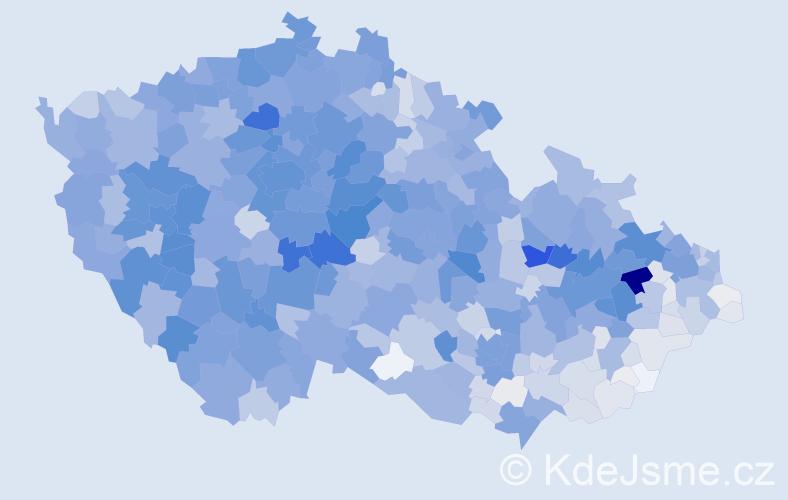 Příjmení: 'Král', počet výskytů 9969 v celé ČR