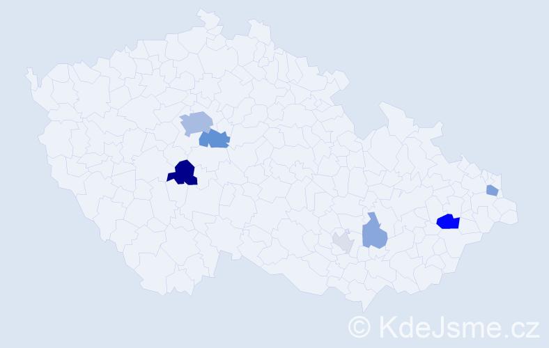 Příjmení: 'Griffin', počet výskytů 20 v celé ČR