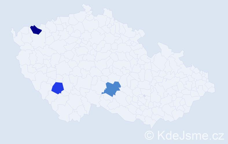 Příjmení: 'Čumrová', počet výskytů 10 v celé ČR