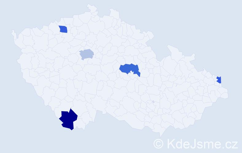 Příjmení: 'Čomorová', počet výskytů 6 v celé ČR