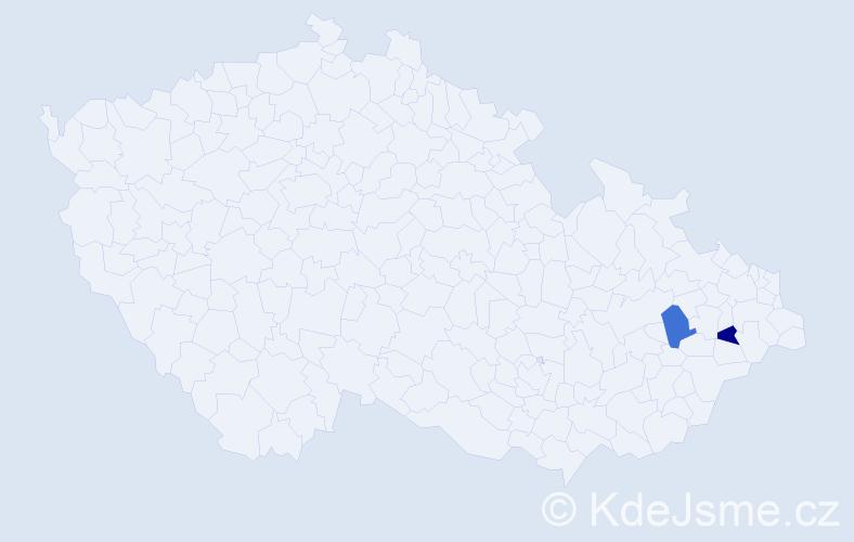 Příjmení: 'Balcy', počet výskytů 2 v celé ČR