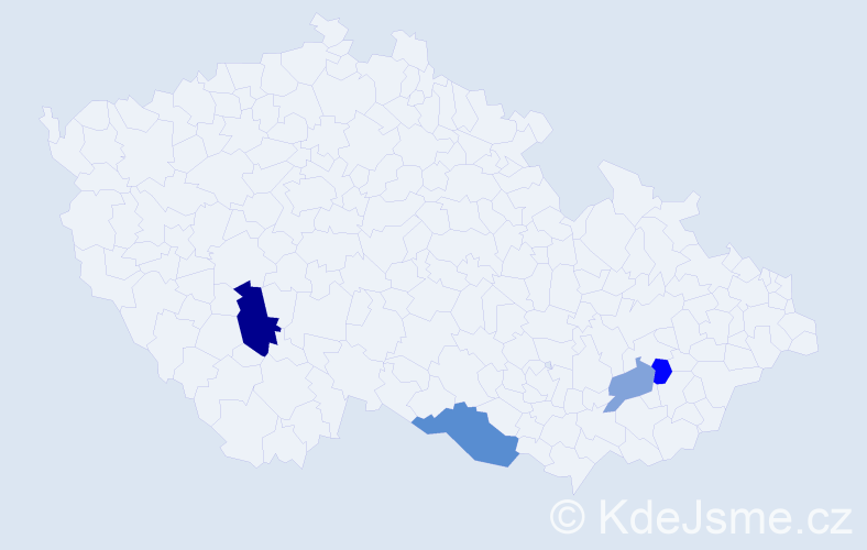 Příjmení: 'Chlopáň', počet výskytů 7 v celé ČR