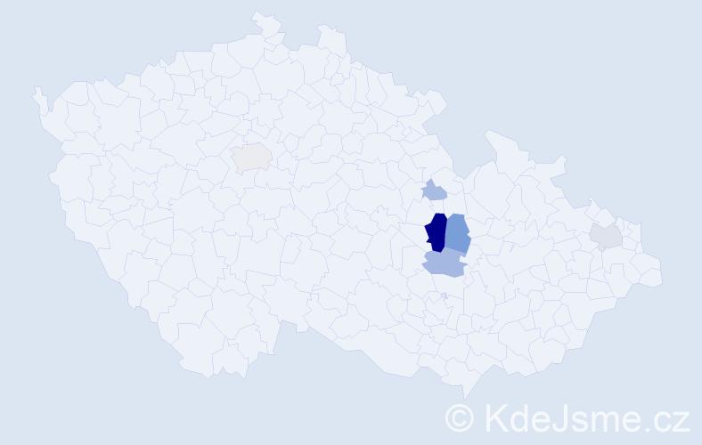 Příjmení: 'Etzler', počet výskytů 17 v celé ČR