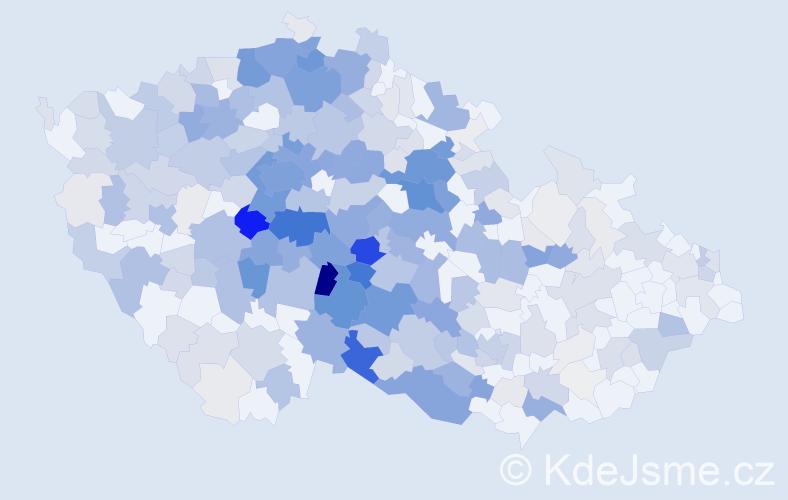 Příjmení: 'Kudrna', počet výskytů 1393 v celé ČR
