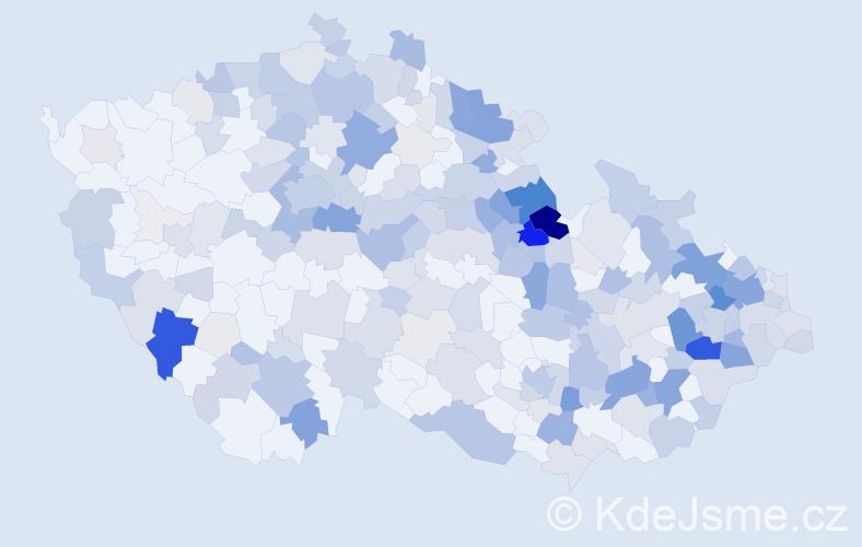 Příjmení: 'Krčmář', počet výskytů 1032 v celé ČR