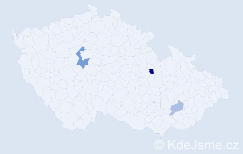 Příjmení: 'Chavezová', počet výskytů 6 v celé ČR
