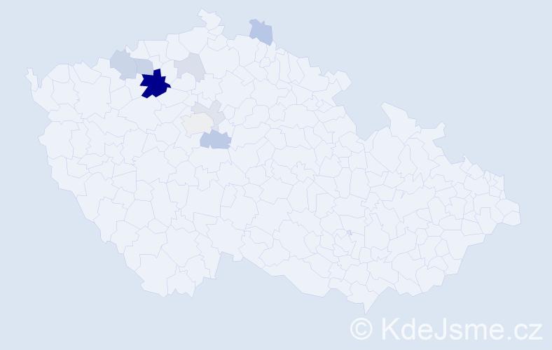 Příjmení: 'Andrásová', počet výskytů 26 v celé ČR