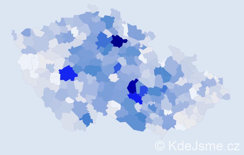 Příjmení: 'Havelka', počet výskytů 3555 v celé ČR
