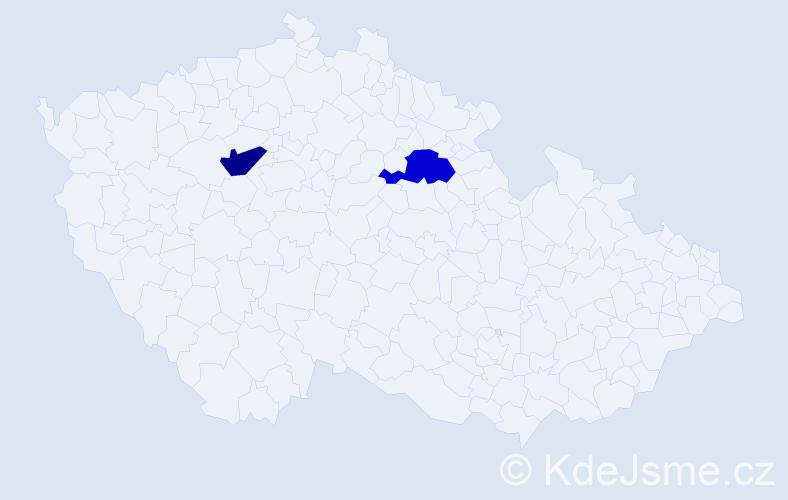 Příjmení: 'Čergetová', počet výskytů 2 v celé ČR