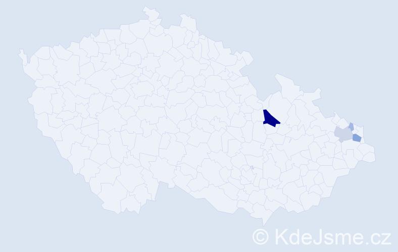 Příjmení: 'Hackenberger', počet výskytů 15 v celé ČR