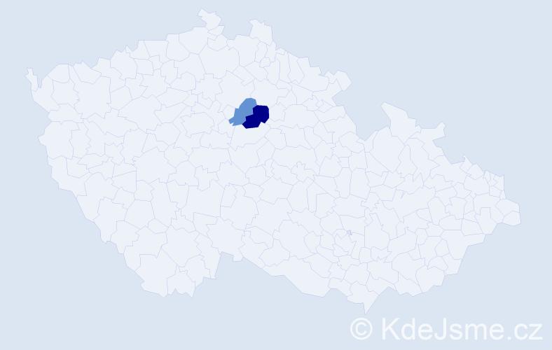 Příjmení: 'Častalovský', počet výskytů 3 v celé ČR