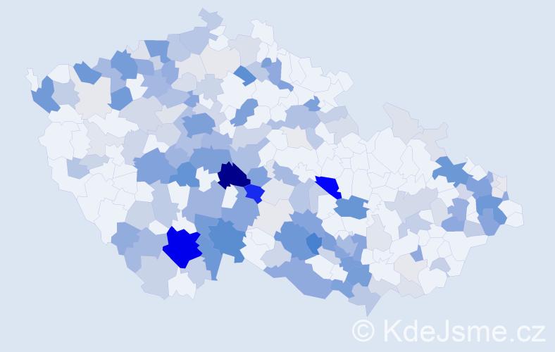 Příjmení: 'Chmel', počet výskytů 649 v celé ČR
