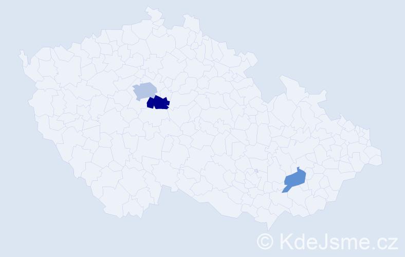 Příjmení: 'Drál', počet výskytů 6 v celé ČR